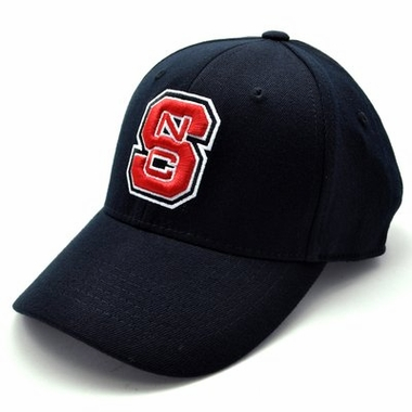 NC State Black Premium FlexFit Baseball Hat