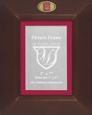 NC State BROWN Portrait Picture Frame