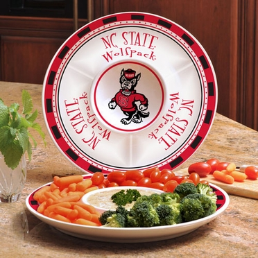 NC State Ceramic Chip and Dip Plate