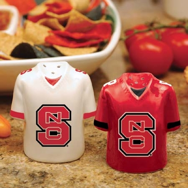 NC State Ceramic Jersey Salt and Pepper Shakers