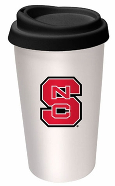 NC State Ceramic Travel Cup