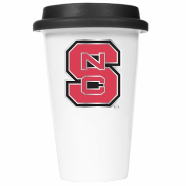 NC State Ceramic Travel Cup (Black Lid)