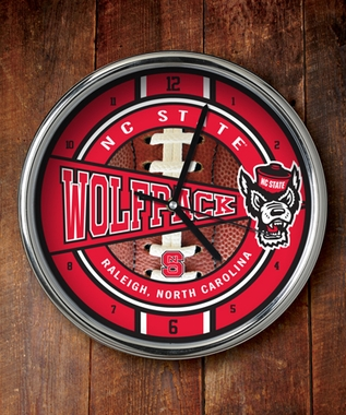 NC State Chrome Clock