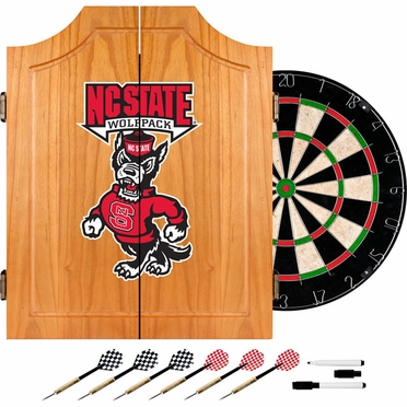 NC State Complete Dart Cabinet