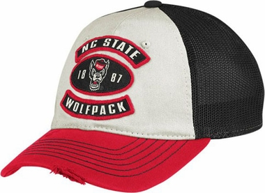 NC State Distressed Flex Slouch Hat