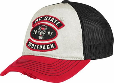 NC State Distressed Flex Slouch Hat - Large / X-Large