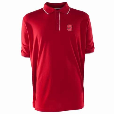 NC State Mens Elite Polo Shirt (Team Color: Red)