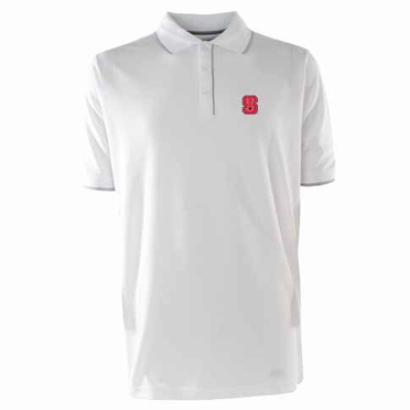 NC State Mens Elite Polo Shirt (Color: White)