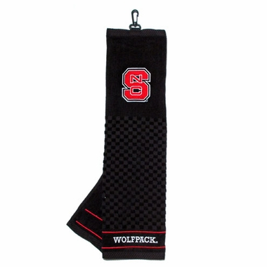 NC State Embroidered Golf Towel