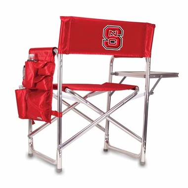 NC State Embroidered Sports Chair (Red)