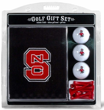 NC State Embroidered Towel Golf Gift Set