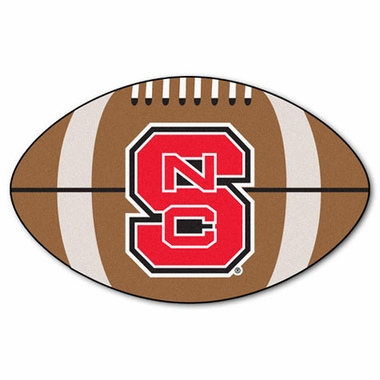 NC State Football Shaped Rug