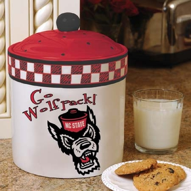 NC State Gameday Ceramic Cookie Jar