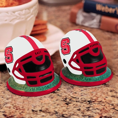 NC State Helmet Ceramic Salt and Pepper Shakers