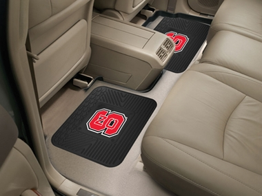 NC State SET OF 2 Heavy Duty Vinyl Rear Car Mats