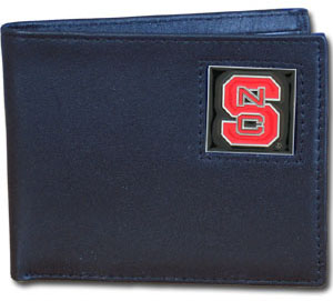 NC State Leather Bifold Wallet
