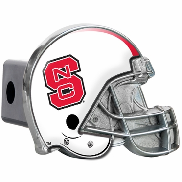 NC State Metal Helmet Trailer Hitch Cover