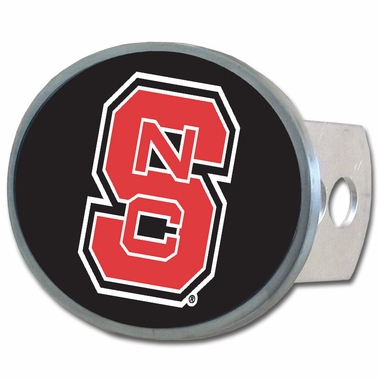 NC State Oval Metal Hitch Cover