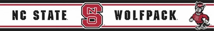 NC State Peel and Stick Wallpaper Border