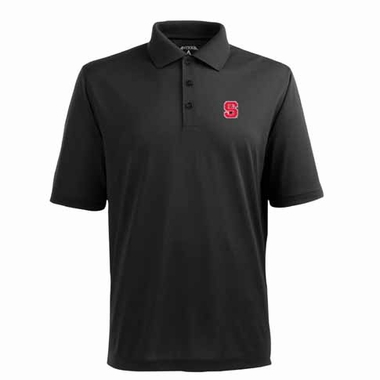 NC State Mens Pique Xtra Lite Polo Shirt (Alternate Color: Black)