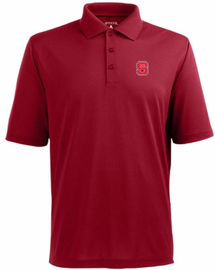 NC State Mens Pique Xtra Lite Polo Shirt (Color: Red)