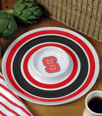 NC State Plastic Chip and Dip Plate