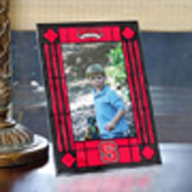 NC State Portrait Art Glass Picture Frame