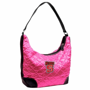 NC State Quilted Hobo Purse