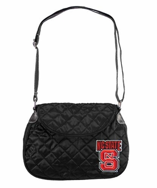 NC State Quilted Saddlebag