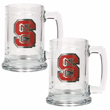 NC State Set of 2 15 oz. Tankards