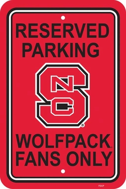 NC State Plastic Parking Sign (P)