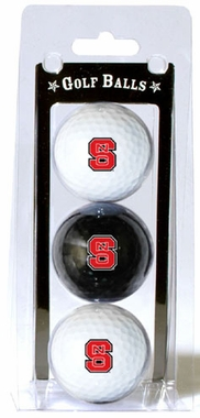 NC State Set of 3 Multicolor Golf Balls