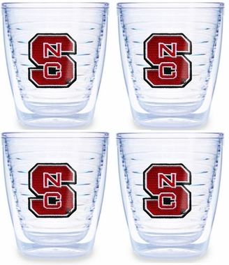 NC State Set of FOUR 12 oz. Tervis Tumblers