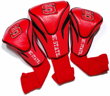 NC State Set of Three Contour Headcovers