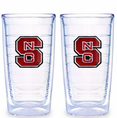 NC State Set of TWO 16 oz. Tervis Tumblers