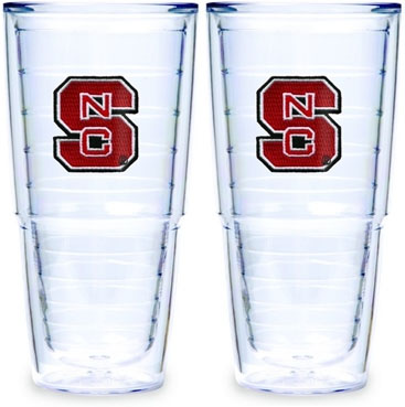 NC State Set of TWO 24 oz. Tervis Tumblers