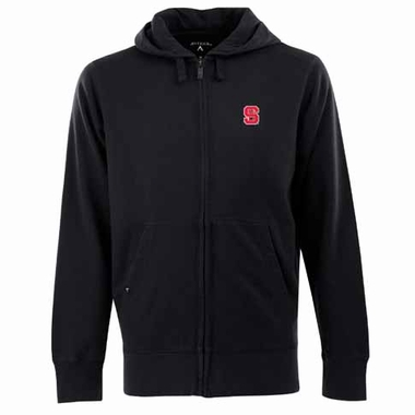 NC State Mens Signature Full Zip Hooded Sweatshirt (Alternate Color: Black)