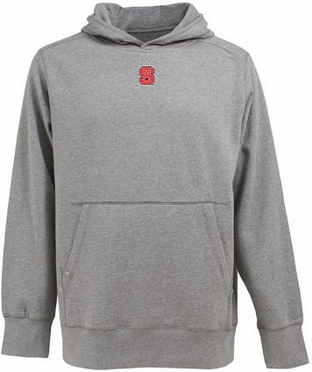 NC State Mens Signature Hooded Sweatshirt (Color: Gray)