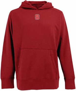 NC State Mens Signature Hooded Sweatshirt (Team Color: Red)