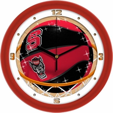 NC State Slam Dunk Wall Clock