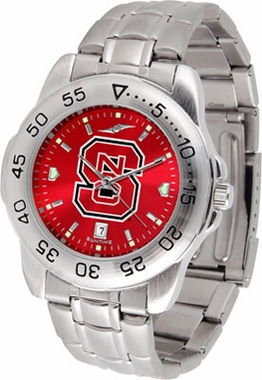 NC State Sport Anonized Men's Steel Band Watch