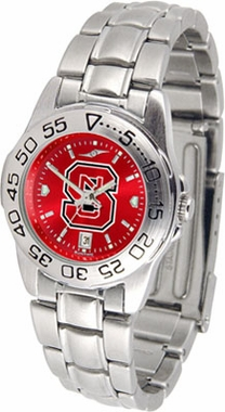NC State Sport Anonized Women's Steel Band Watch