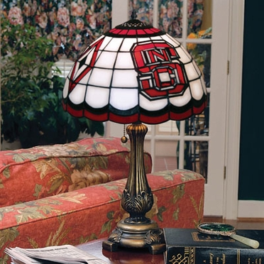 NC State Stained Glass Table Lamp