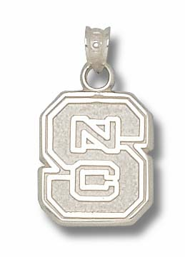NC State Sterling Silver Pendant