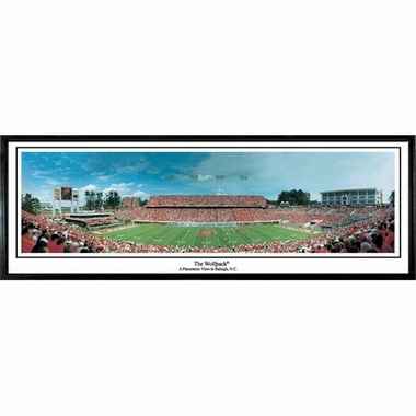 NC State The Wolf Pack Framed Panoramic Print