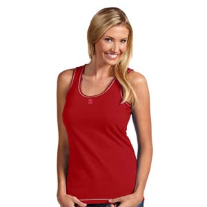 NC State Womens Sport Tank Top (Team Color: Red) - Medium