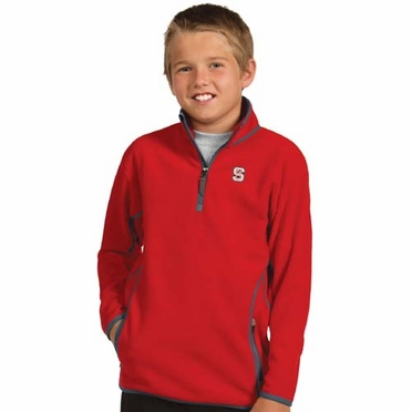 NC State YOUTH Unisex Ice Polar Fleece Pullover (Team Color: Red)