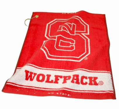NC State Woven Golf Towel
