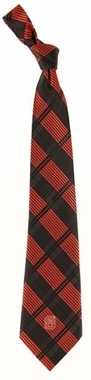 NC State Woven Plaid Necktie