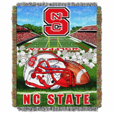 NC State Woven Tapestry Blanket